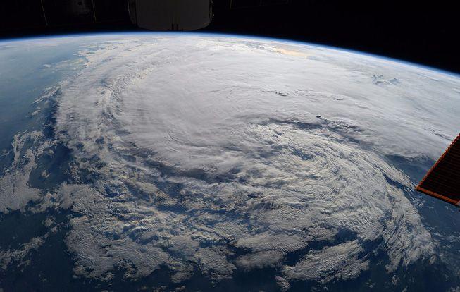 NASA astronaut Randy Bresnik took this photo of Hurricane Harvey from the ISS