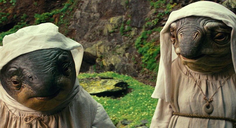The caretakers on Ahch-To were inspired by fish, puffins, and nuns.