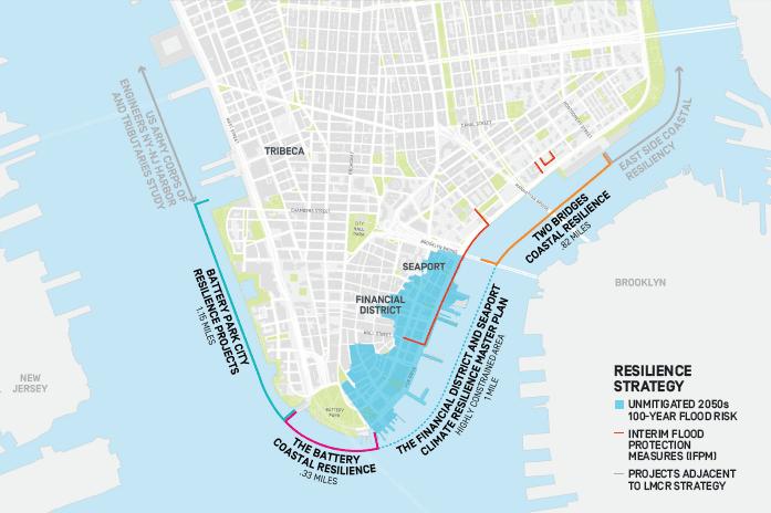 Lower Manhattan Coastal Resiliency Map