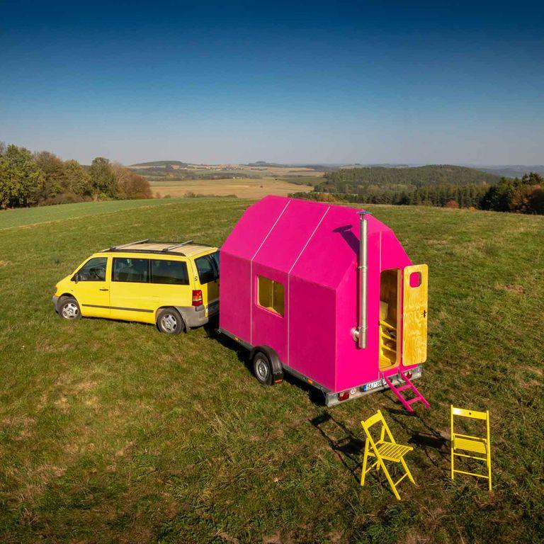 Magenta es una pequeña casa ultracompacta construida por $ 10K