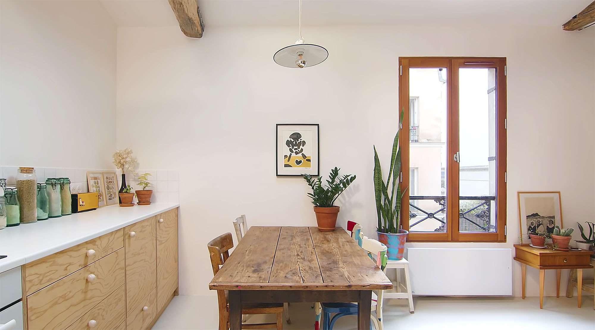 Jourdain micro-apartment renovation Matthieu Torres dining room