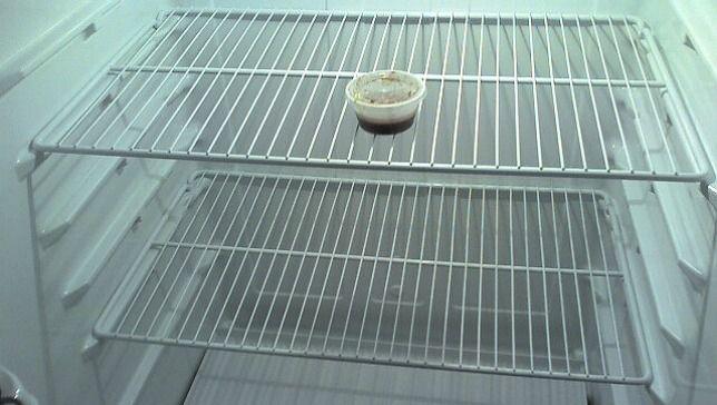 nearly empty refrigerator
