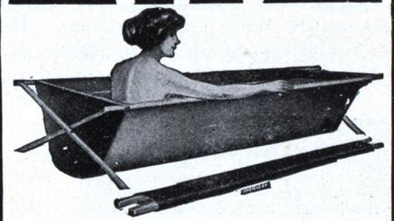 La bañera plegable de 1915 tendría sentido hoy