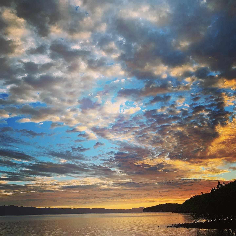 A sunrise over the Sea of Cortez.