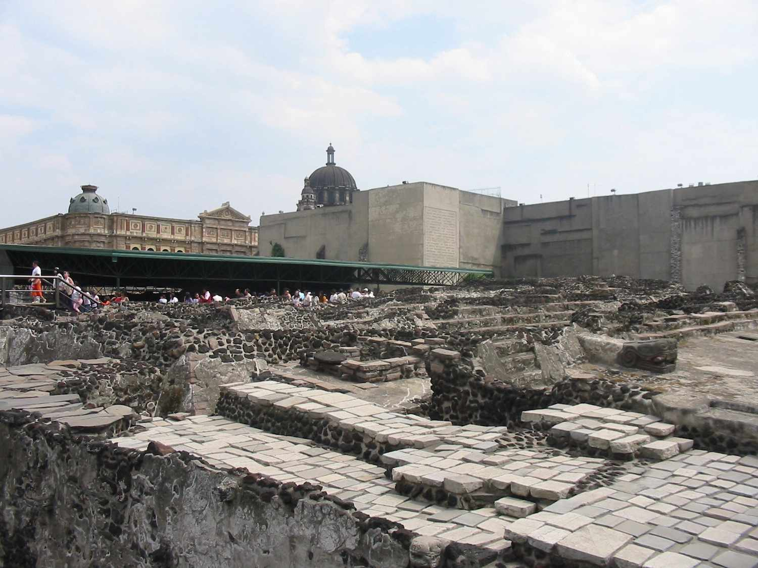 The ruins of Templo Mayer in Mexico City