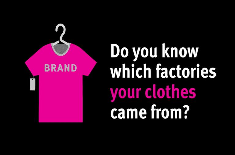 Las marcas de ropa deben ser más transparentes sobre el origen de la ropa