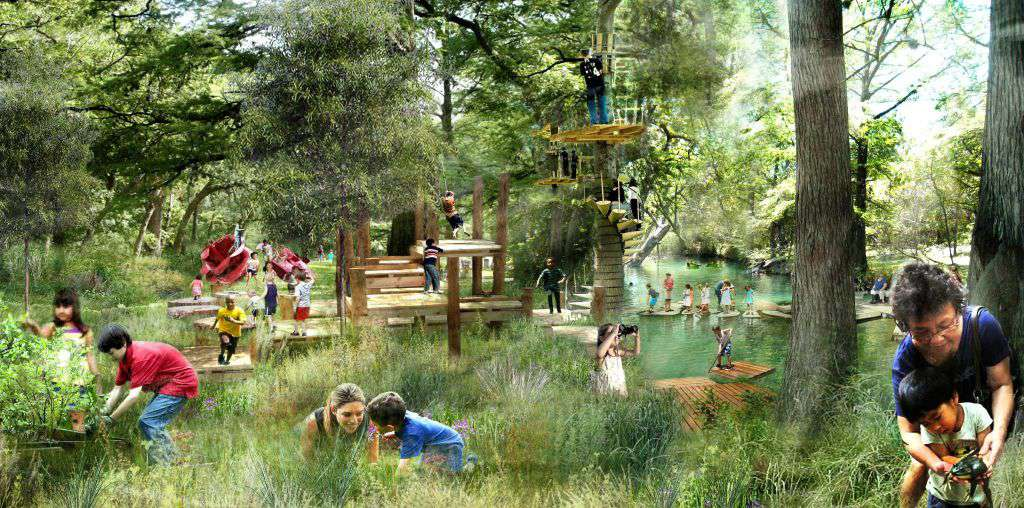 Rendering of the Houston Botanic Garden, a 150-acre attraction planned for completion in 2020.